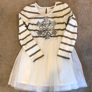 Girls snowflake dress